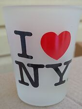 I LOVE (HEART) NY NEW YORK FROSTED SHOT GLASS OFFICIALLY LICENSED SOUVENIR