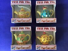 Mary Engelbreit Time for Tea teapot ornaments Rose Maggie Eve Emma