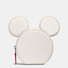 Coach Disney Coin Case In Glove Calf Leather With Mickey Ears F59071 $95 NWT