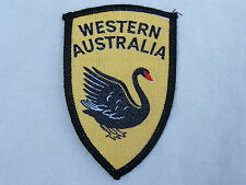RARE VINTAGE WESTERN AUSTRALIA EMBROIDERED PATCH SOUVENIR WOVEN CLOTH BADGE