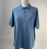 Lacoste Devanlay Mens Blue Polo Shirt Size 6 L Shirt Sleeve Tshirt Short Sleeve