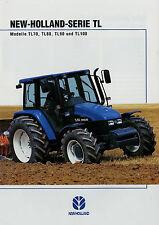 Prospekt New Holland TL Traktoren 2/00 2000 Traktor TL70 TL80 TL90 TL100 brochur