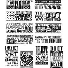 Tim Holtz Rubber Stamp Set - Mini Motivation CMS-LG 292