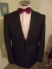 "LIME Men's Charcoal Stripe Suit Jacket C42"" Long Poly/Visc rrp £129 Blend BNWOT"