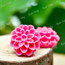 13X13mm Resin Cabochon Flower DIY Cameo Flatback Vintage Style For Pendant Ring