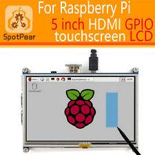 raspberry pi 3 model B/2B 5inch HDMI GPIO Resistive Touch Screen display LCD