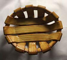 TADINATE Woven Ceramic Bread Basket, Made in Italy, Unique Pottery