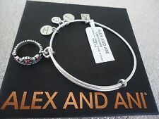 Alex and Ani QUEEN'S CROWN Russian Silver Charm Bangle New W/ Tag Card & Box