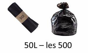 sac poubelle HD 50L noir - les 500 sacs poubelles