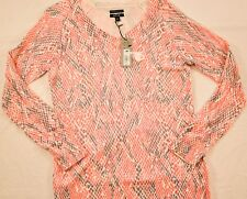 women's APT. 9 soft pink/gray cashmere blend sweater size medium MSRP $50 new!