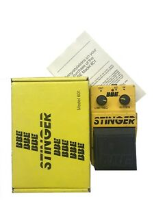 BBE Stinger, Model 601, EQ, 1980's USA, RARE, Boxing, Vintage Effect Pedal