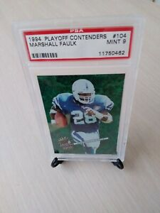 1994 Playoff Contenders #104 Marshall Faulk RB Colts, Rams HOFer PSA MINT *9*!!!