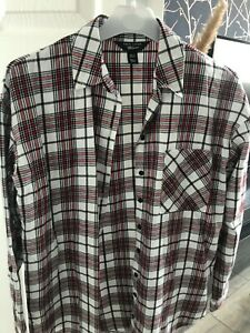 Girls New Look checked shirt Age 12 Good Condition