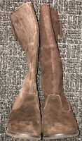 GYMBOREE GIRLS TALL BROWN FAUX SUEDE BOOTS SIZE 12
