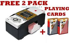 AUTOMATIC CARD SHUFFLER CASINO PLAYING POKER SORTER + FREE 2 PACK PLAYING CARDS