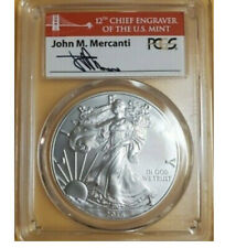 2016 W BURNISHED SILVER EAGLE PCGS SP70 FIRST STRIKE MERCANTI RED BRIDGE LABEL⭐️