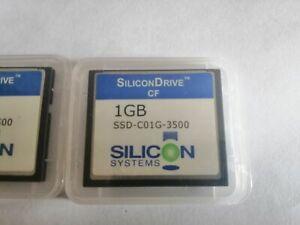 2PCS  SiliconDrive 1GB CF SSD-C01G-3500 SILICON