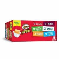 Pringles Snack Stacks Potato Crisp Chips Flavored Variety Lunch Pack 18 Count