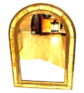 Moroccan Mirror Beautiful Arch Classy Yellow Camel Bone Wall Decor Nice Gift