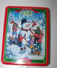 Only Oreo Tin 1996 Commemorative Limited Edition Tin Snowman Nabisco canister