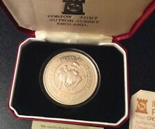 1980 Isle of Man Silverproof .925 Silver One Crown Coin Bicentenary of the Derby