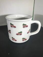 Pottery Barn Woody Car Winter Christmas Tree Coffee Mug Cup