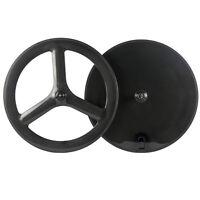 700C Front Tri Spoke Rear Disc Wheel Road/Track/Triathlon Bike Carbon Wheelset