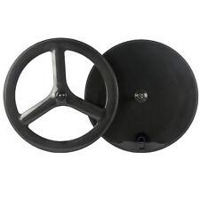 Front Tri Spoke Rear Disc Wheel Road Bike /Time Trial/Triathlon Carbon Wheelset
