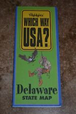 "Highlights Which Way Usa? Delaware State Map ""Vgc"""