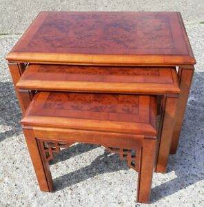 Solid Wood Table Set ( Can Sell Separately).2 Side Tables, 3 Nest & Coffee Table