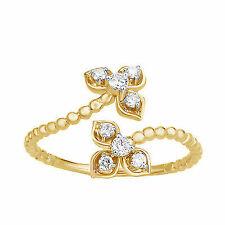 Women's Solid 10k Gold 0.20 Ct Round Diamond Fashion Ring