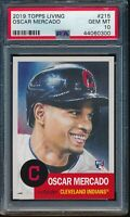 2019 Topps Living Set #215 Oscar Mercado RC Rookie PSA 10 Gem Mint SP Card