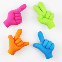 Emoji Hand Shape Pencil Toppers Erasers Novelty Rubbers Party Gift Bag Fillers