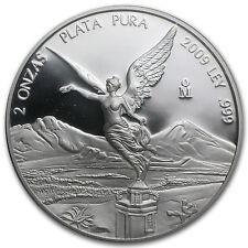 2009 Mexico 2 oz Silver Libertad Proof (In Capsule) - SKU #56130
