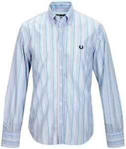 Men's Long Sleeve Shirts Fred Perry Neck B. D. Slim Fit Shirt Long Sleeves