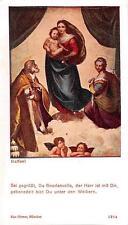 """Heiligenbild  Holycard Maria und Jesus Kind """" H3671"""" Messopfer 1925"""