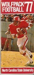 1977 NC STATE WOLFPACK Football Media Guide Yearbook Bill Cowher Steelers