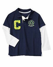 Crazy 8 Soccer Star Navy Team Captain DS Rugby Shirt Top Boys S 5-6 NEW NWT