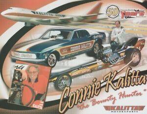 "2009 Connie Kalitta ""Bounty Hunter"" Ford Mustang Funny Car NHRA Hero Card"
