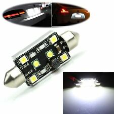 15W DC 12V License Plate Lamp Car Festoon Light White  2-CREE + 4-LED 3528 SMD