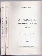 JEAN-MICHEL MASSA LA JEUNESSE DE MACHADO DE ASSIS 1969 LITTERATURE BRESIL SIGNE