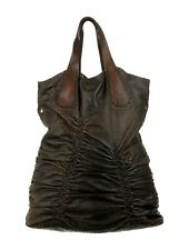 HENRY BEGUELIN Embossed Brown Leather X-Large Tote SPECTACULAR! $1205