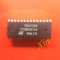 5PCS TDA7318 Encapsulation:DIP,DIGITAL CONTROLLED STEREO AUDIO PROCESSOR