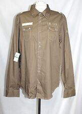 Gun Metal Blac Label - Men's M - NWT $100 - Beige 100% Cotton Button-Down Shirt