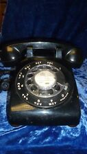 Vintage Black Rotary Phone Bell System by Western Electric
