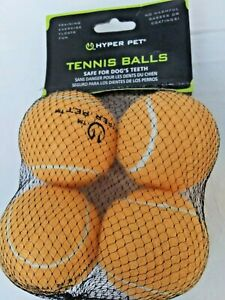 Hyper Tennis Ball Dog Toy - 4 Count Color: Orange