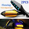 2x Motorcycle LED Turn Signal Lamp Sequential Flowing Indicator Light Amber HOT