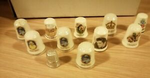 Job Lot: Collection of 11 collectable Thimbles.
