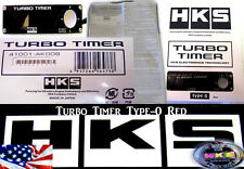 NEW HKS UNIVERSAL TURBO TIMER BLACK TYPE-0 ZERO RED LCD Fit For The 41001-AK009
