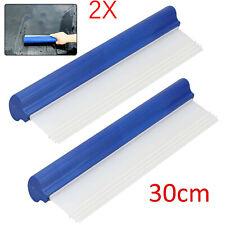 2x Wasserabzieher Silikonlippe Mikrofaser Lackpflege Autowäsche Flexi Glastuch